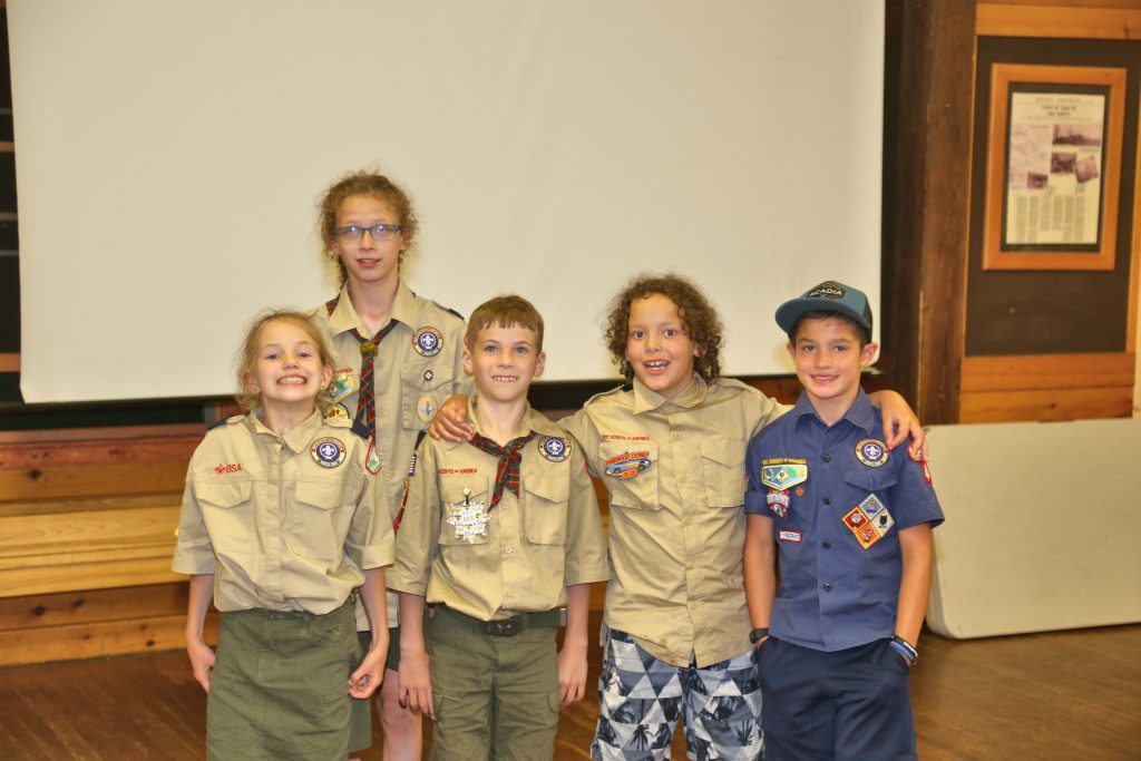 Scouts posing for a picture