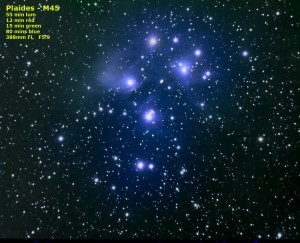Plaides Open Cluster - M45 by Kevin Boucher