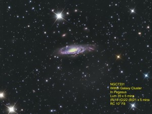 Galaxy NGC7331 by Kevin Boucher