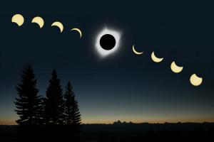 2017 Solar Eclipse composite with Tetons - by Kevin Boucher