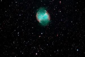 M27 Dumbbell nebula by Ken Cleveland