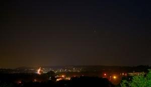 Jupiter Venus Conjunction over Worcester
