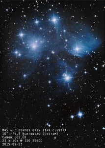 Plaides Open Cluster - M45 by Charles Stevenson