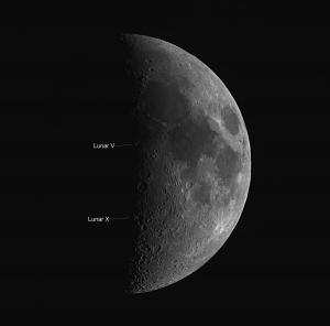 Lunar X and V by Kevin Boucher