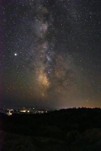 Milky way over Bar Harbor by Chris Martel